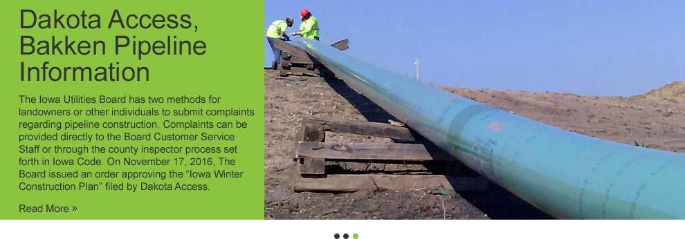 Dakota Access/Bakken Pipeline Information