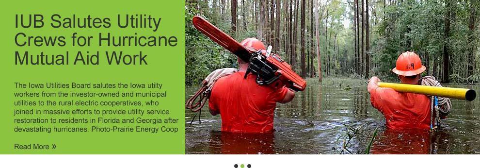 IUB Salutes Utility Crews for Hurricane Mutual Aid Work