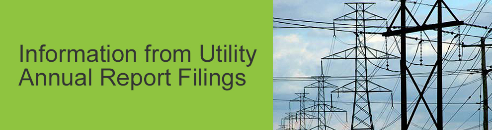 Information from Utility Annual Report Filings