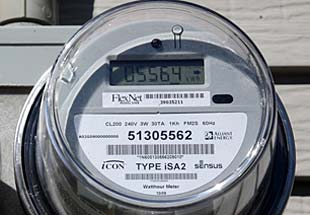 photo of electric meter